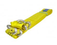 JUMBO Sleepband 100 mm brede webbing geel  LC 10.000 kg 4 meter